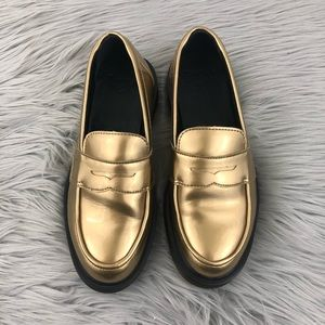 265d5517543 Dr. Martens Shoes - DR. MARTENS ABBY PENNY LOAFER IN GOLD